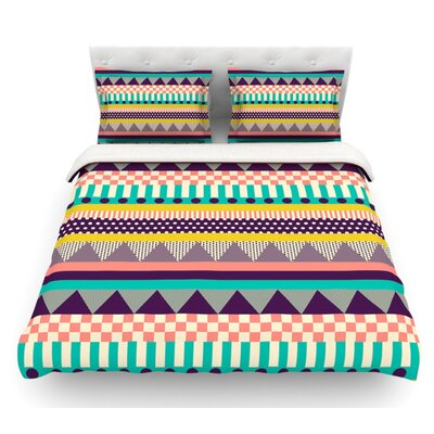 Decorative Stripes by Louise Machado Featherweight Duvet Cover Size: King, Fabric: Cotton