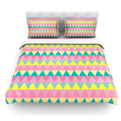 Triangles by Louise Machado Featherweight Duvet Cover Size: Twin, Fabric: Lightweight Polyester