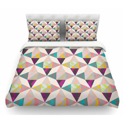 True Diamonds by Louise Machado Pastel Featherweight Duvet Cover Size: King