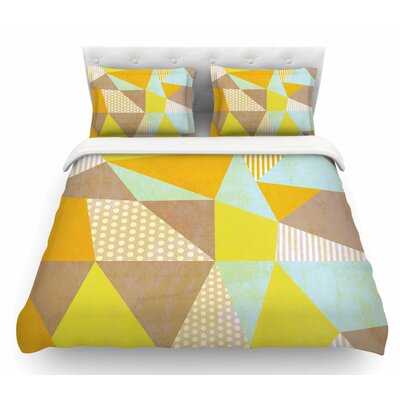 Geometric by Louise Machado Pastel Featherweight Duvet Cover Size: King