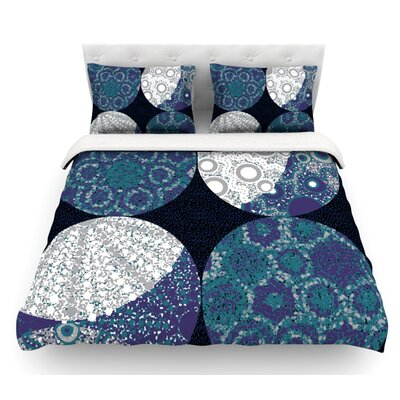 Moons by Laura Nicholson Featherweight Duvet Cover Size: Twin