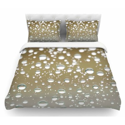 Neutral Rain by Kristi Jackson Nature Featherweight Duvet Cover Size: Twin