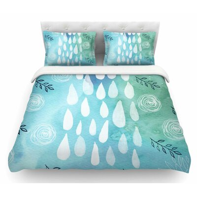 Rain by Li Zamperini Featherweight Duvet Cover Size: King