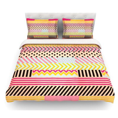 Decorative Tape by Louise Machado Featherweight Duvet Cover Size: King, Fabric: Lightweight Polyester