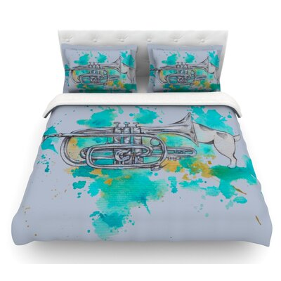 Hunting for Jazz by Kira Crees Featherweight Duvet Cover Size: Queen