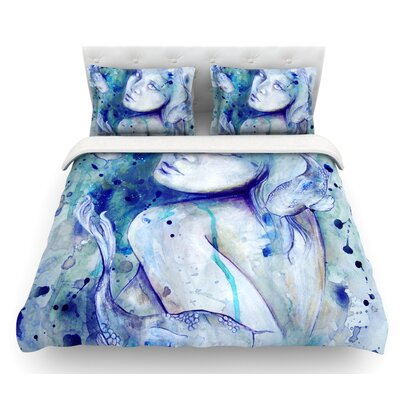 Koi Playing by Kira Crees Featherweight Duvet Cover Size: King