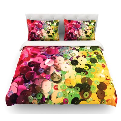 Spots by Louise Machado Sparkle Featherweight Duvet Cover Size: King, Fabric: Lightweight Polyester