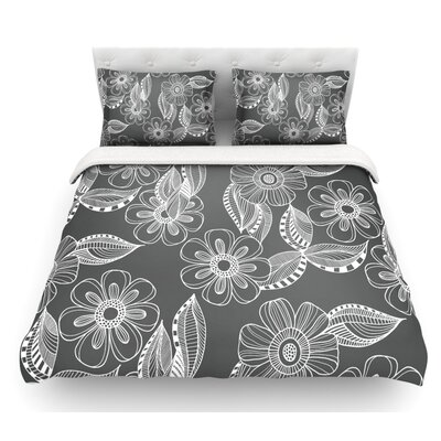 Floral Ink by Louise Machado Featherweight Duvet Cover Size: Twin