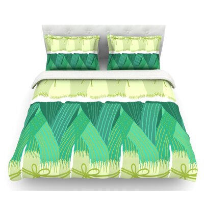 Leeks by Laura Nicholson Featherweight Duvet Cover Size: Queen, Fabric: Cotton