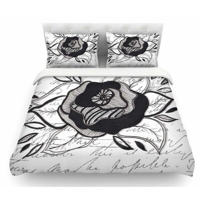 Like a Rose by Li Zamperini Featherweight Duvet Cover Size: King