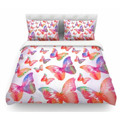 Butterfly by Li Zamperini Featherweight Duvet Cover Size: Twin