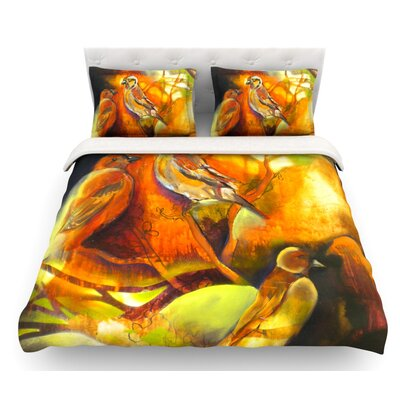 Reflecting Light by Kristin Humphrey Featherweight Duvet Cover Size: King, Fabric: Cotton