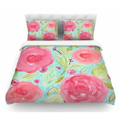 Spring by Li Zamperini Floral Featherweight Duvet Cover Size: Twin