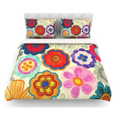 Charming Floral by Louise Machado Floral Featherweight Duvet Cover Size: Twin, Fabric: Cotton