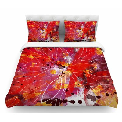 Flame by Li Zamperini Featherweight Duvet Cover Size: Twin