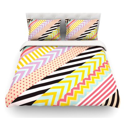 Diagonal Tape by Louise Machado Geometric Featherweight Duvet Cover Size: Queen, Fabric: Lightweight Polyester