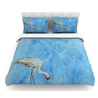 Crane by Kira Crees Featherweight Duvet Cover Size: Queen