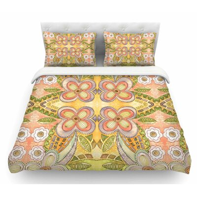 Ethnic Floral by Louise Machado Illustration Featherweight Duvet Cover Size: Queen
