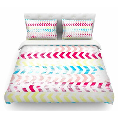 Arrow by Louise Machado Art Deco Featherweight Duvet Cover Size: Twin