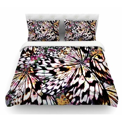 Butterfly Wings by Louise Machado Featherweight Duvet Cover Size: Queen