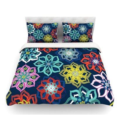Flower by Jolene Heckman Flowers Featherweight Duvet Cover Size: Queen