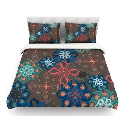 Floral Arrangements by Jolene Heckman Flowers Featherweight Duvet Cover Size: Queen