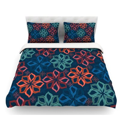 Floral Charm by Jolene Heckman Flowers Featherweight Duvet Cover Size: Twin, Fabric: Lightweight Polyester
