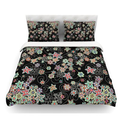 My Small Flowers by Julia Grifol Floral Featherweight Duvet Cover Size: Twin