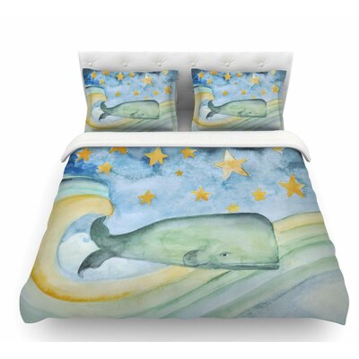 Swimming with the Stars by Jennifer Rizzo Illustration Animals Featherweight Duvet Cover Size: Queen
