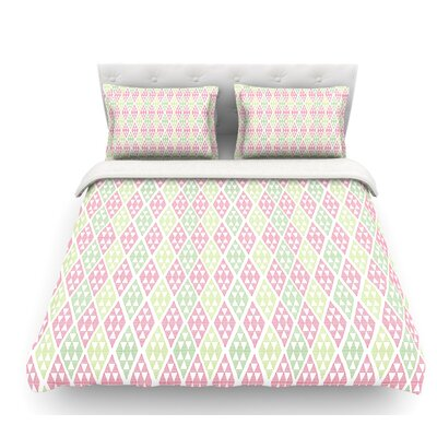 Woven Wrap by Julie Hamilton Featherweight Duvet Cover Size: Queen