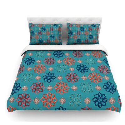 Mini by Jolene Heckman Flowers Featherweight Duvet Cover Size: Queen