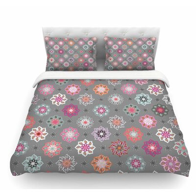 Mini Floral by Jolene Heckman Featherweight Duvet Cover Size: Queen