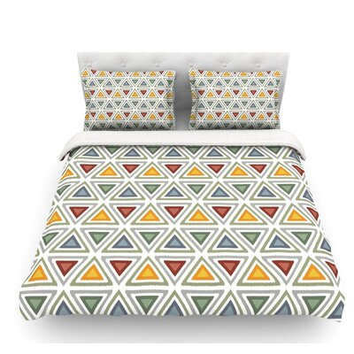 Ikat Triangles by Julia Grifol Featherweight Duvet Cover Size: King