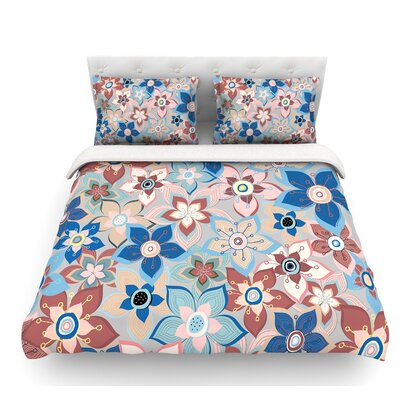Marsala Floral Mix by Jolene Heckman Featherweight Duvet Cover Size: King