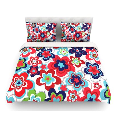 Morning by Jolene Heckman Featherweight Duvet Cover Color: Multi, Size: King