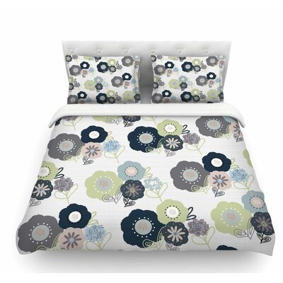 Floral Bunches by Jolene Heckman Featherweight Duvet Cover Size: Queen