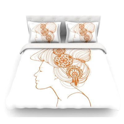 Organic by Jennie Penny Featherweight Duvet Cover Color: White, Size: Queen