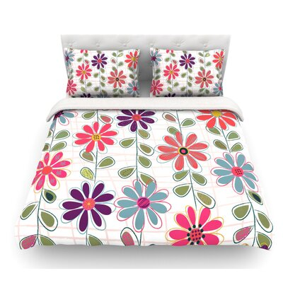 Fall Flowers by Jolene Heckman Floral Featherweight Duvet Cover Size: Twin, Fabric: Lightweight Polyester