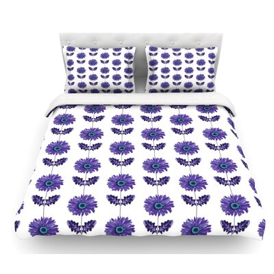Gerbera by Laura Escalante Flower Featherweight Duvet Cover Color: Purple/Lavender, Size: Twin