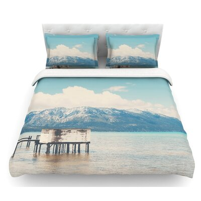 Down by the Lake by Laura Evans Featherweight Duvet Cover Size: Twin