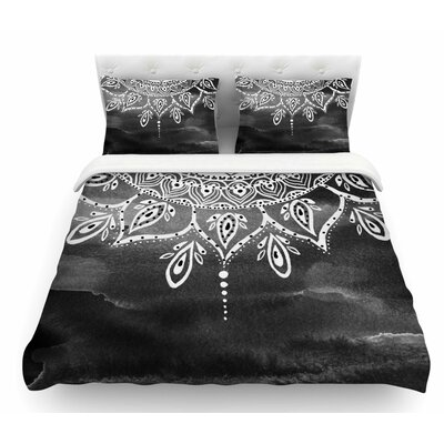 Mandala by Li Zamperini Abstract Featherweight Duvet Cover Size: Twin