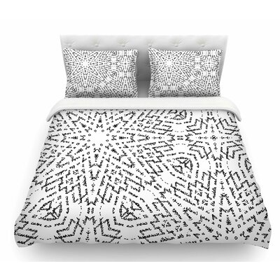 Letter of Advice by Laura Nicholson Featherweight Duvet Cover Size: King