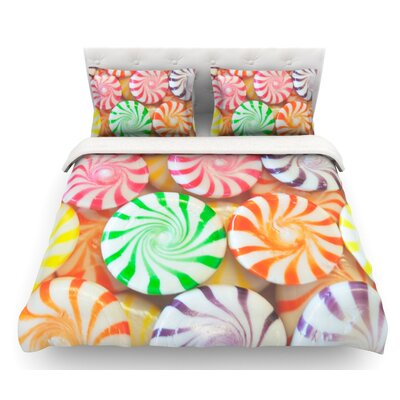 I Want Candy by Libertad Leal Featherweight Duvet Cover Size: Twin, Fabric: Lightweight Polyester
