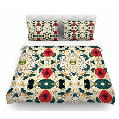 Persimmons and Peaches by Laura Nicholson Abstract Featherweight Duvet Cover Size: Twin