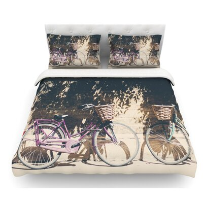 Pretty Bicycles by Laura Evans Featherweight Duvet Cover Size: Queen