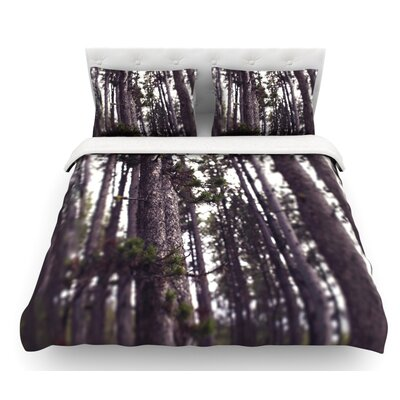 Woods by Leah Flores Forest Featherweight Duvet Cover Size: Queen