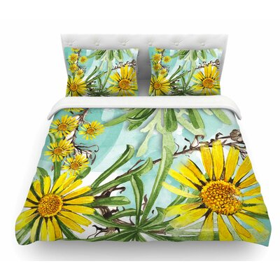Sunny Day by Liz Perez Floral Featherweight Duvet Cover Size: King