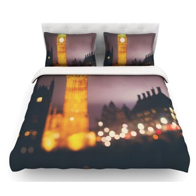 Westminster at Night by Laura Evans Featherweight Duvet Cover Size: Queen