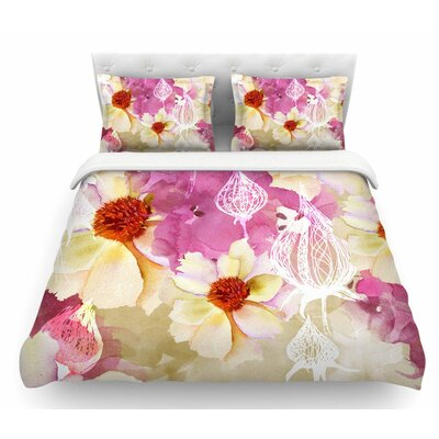 Sweet Florist by Liz Perez Featherweight Duvet Cover Size: Twin