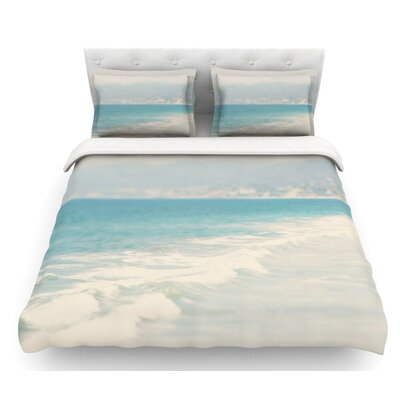 Waves by Laura Evans Featherweight Duvet Cover Size: Twin